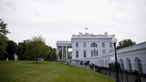 The exterior of the White House is seen before U.S.