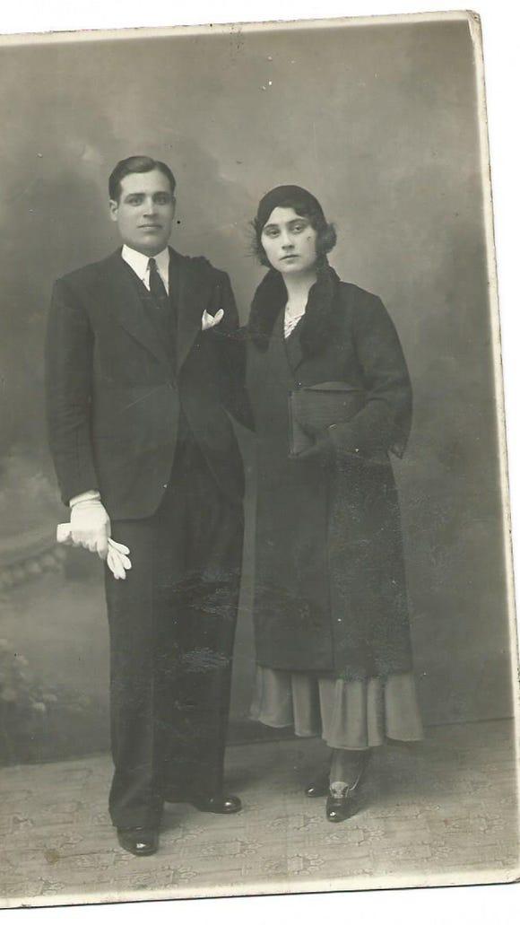 Decimo and Graziosa Paolini before he disappeared.