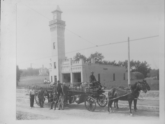 The original County Institutions fire station was built