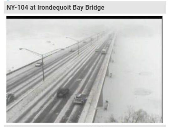 Traffic camera shot of the Irondequoit Bay Bridge,