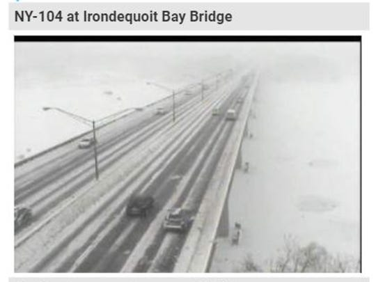 Traffic camera shot of the Irondequoit Bay Bridge,