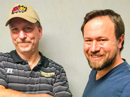 Pine Belt radio personalities Tom Colt, left, and Andy Webb