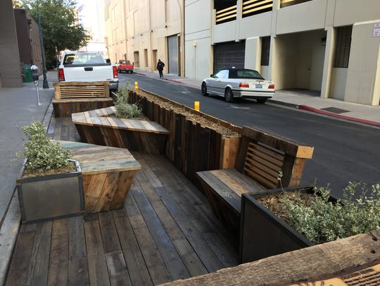 New parklet on Roff Way.