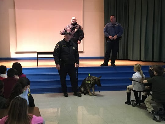 Deerfield School No.9 were treated to a demonstration form the K-9 unit from the Union County Sheriff's Department