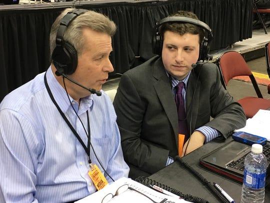 ESPN's Bob Picozzi (left) with WSOU's Sean St. Jacques