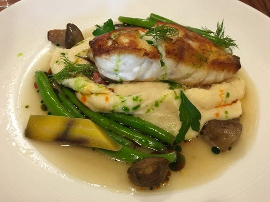 A grouper special with lobster Yukon gold potatoes