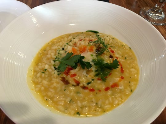 Butternut squash risotto from Petar's.