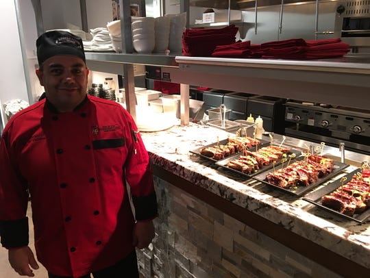Chef Jesse Betancur runs the kitchen at the IMG's new