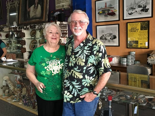Bill and Carolyn Tanghe own The Design Collections and Johnson Photo on Miles Avenue in Indio, which have been in business collectively for 90 years.