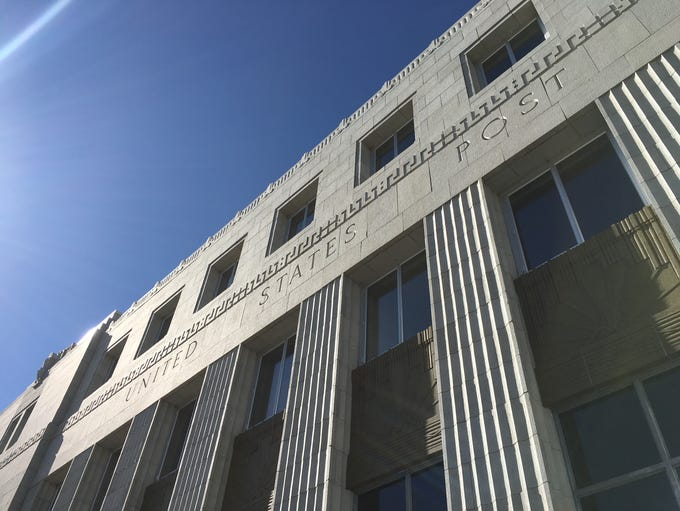 The historic U.S. Post Office on Virginia street and