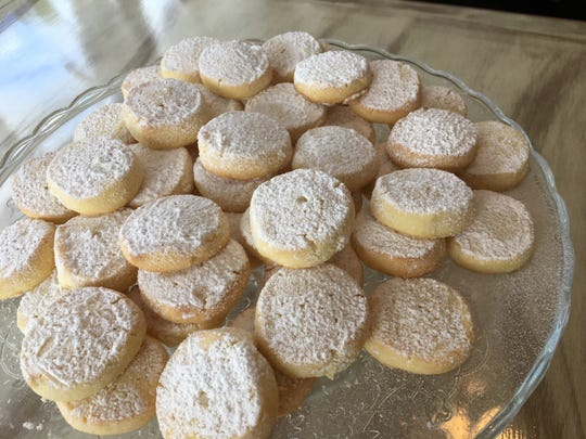 Italian lemon shortbread cookies from Colleoni's which opens this week in south Fort Myers.