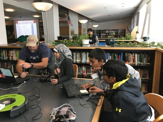 Three Middle School students from The Wardlaw-Hartridge School in Edison attended a Botball robotics workshop in New York City during Spring Break in March. Sixth-grader Faizah Naqvi of South Plainfield and seventh-graders Ashwin Manur of Iselin and Tarun Ravilla of Edison learned a great deal at the workshop.