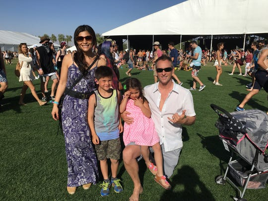 Hien, Tristan, Skye and Todd Winter have been coming to Coachella as a family since the children were born.