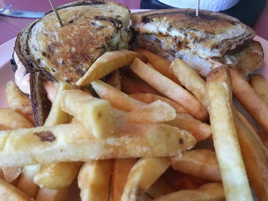 A fish Reuben from Halfshell Lounge.