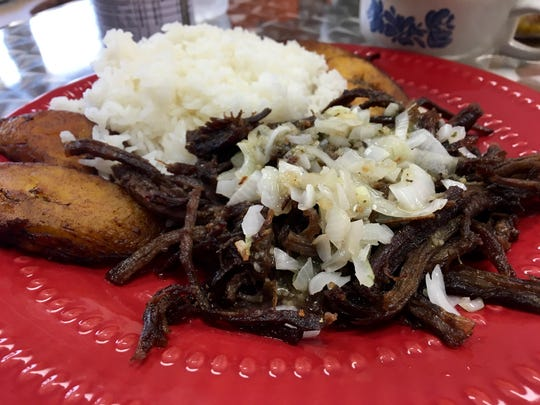 Vaca frita, shredded beef that's been crisped in hot oil, is one of the many Cuban specialties at Rincon Cubano in Cape Coral.