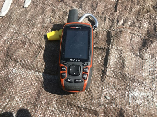 Garmin 64S GPS unit. This goes with me on nearly every
