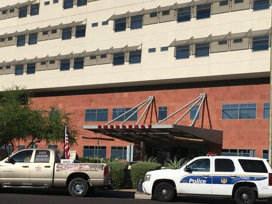 Scene at St. Joseph's hospital