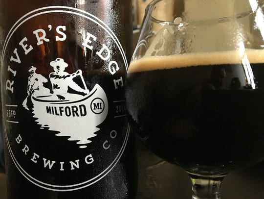 Dirty Frank Stout, from River's Edge Brewing Co. in