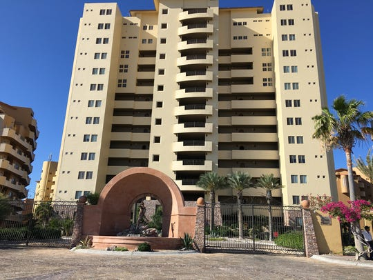 Behind the gates at one of Puerto Penasco's condo towers,