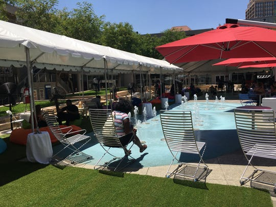 "Downtown Phoenix Inc. has set up a ""Power Up Oasis"""