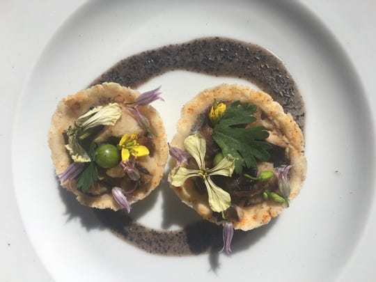 A mushroom cap course in the 2016 Chef Challenge For Children.