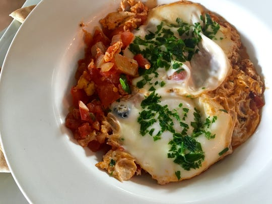 Shakshuka, an Israeli breakfast dish, from Cafe YOU