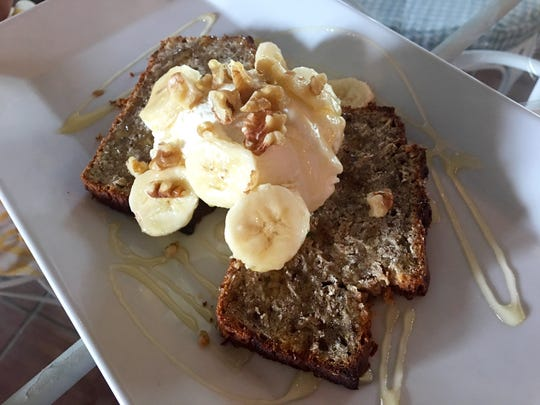 Banana bread with ricotta and honey from Cafe YOU.