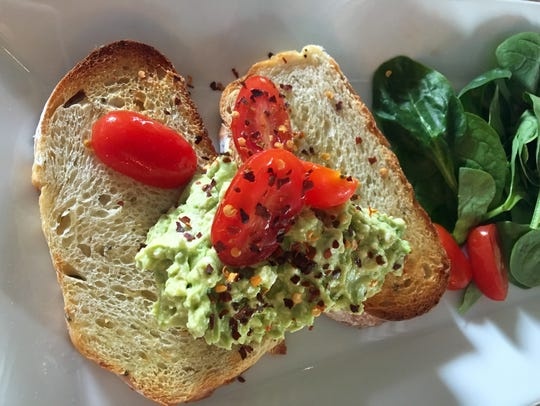 Avocado Smash on sourdough toast from Cafe YOU in Cape