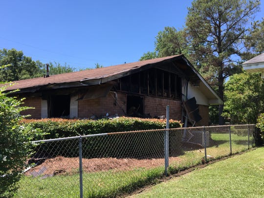 The fire originated in an unoccupied bedroom in the corner of the Nevada Drive home.