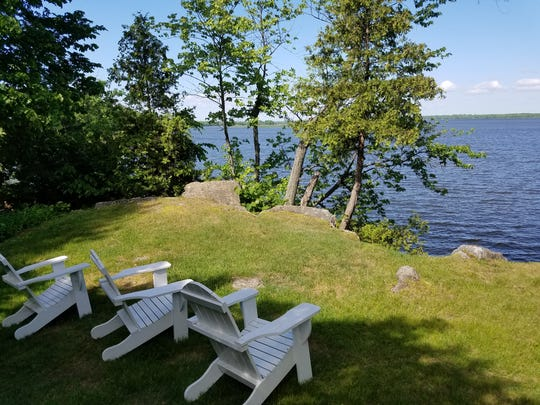 Cabins with lakefront views, like this, cost a bit