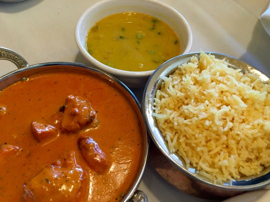 The tikka masala at Himalayan Bistro comes with lentil soup and rice. The restaurant opened June 16.