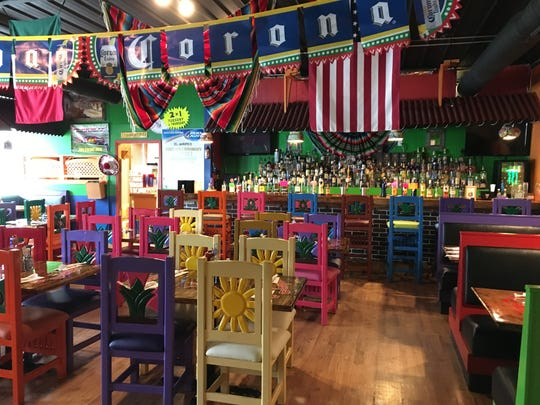 View inside El Jaripeo Mexican Restaurant in Greenville.