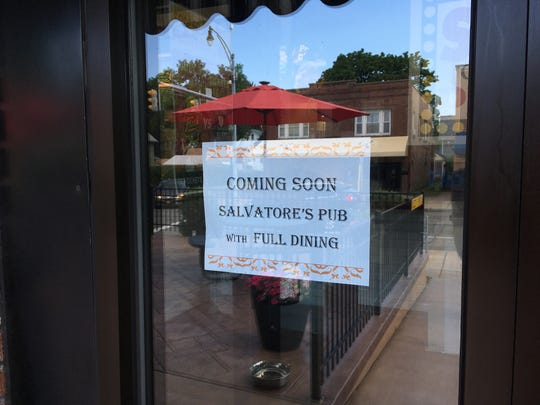 The Salvatore's Old Fashioned Pizzeria on East Main Street is undergoing renovation that will transform it into a pub with a full liquor license.
