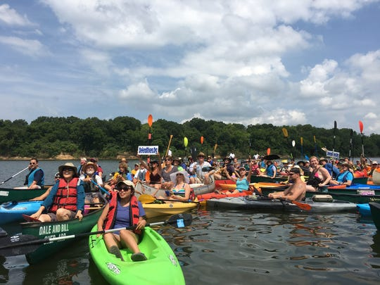The Alabama River alliance hosted its fourth annual #DefendRivers Paddle on the Alabama River July 9, 2016.