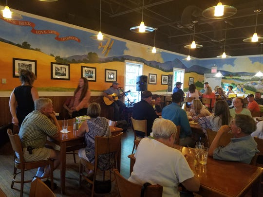 Live music adds to the experience at the Harpoon Brewery in Windsor, Vermont.
