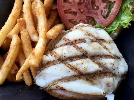 A grilled grouper sandwich from The Fish House on Fort Myers Beach.