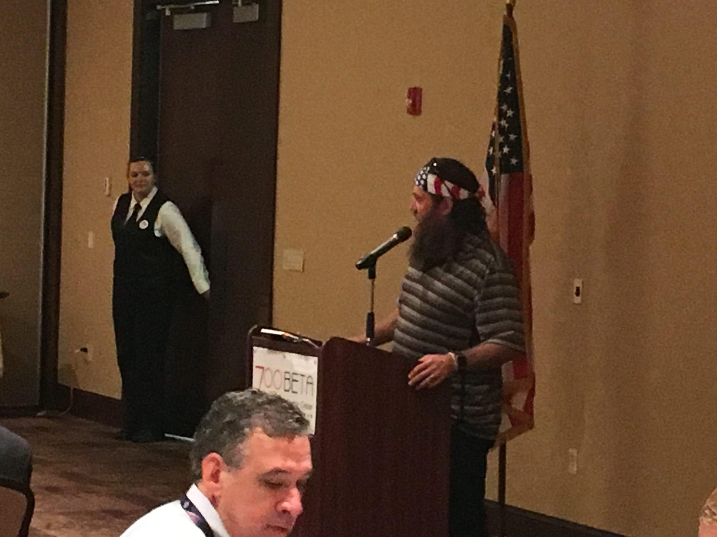 Willie Robertson at delegate breakfast.