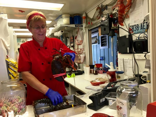 Chef-owner Donna Poissant of A Little Bite of Maine. The restaurant has closed at Fleamasters Fleamarket and is looking for a new home.