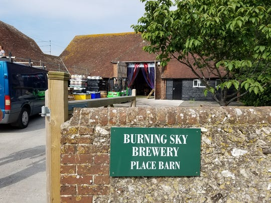 Burning Sky in England.