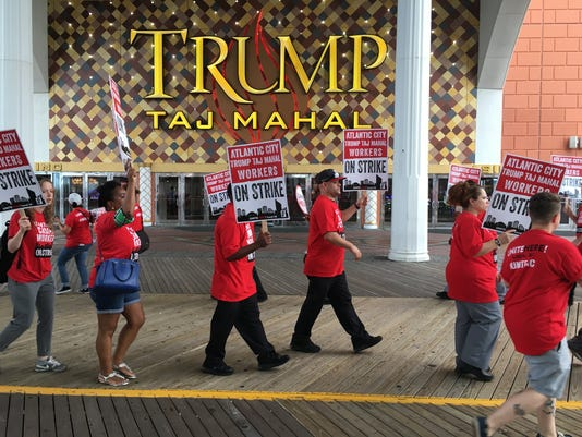 AP ATLANTIC CITY CASINO STRIKE A USA NJ