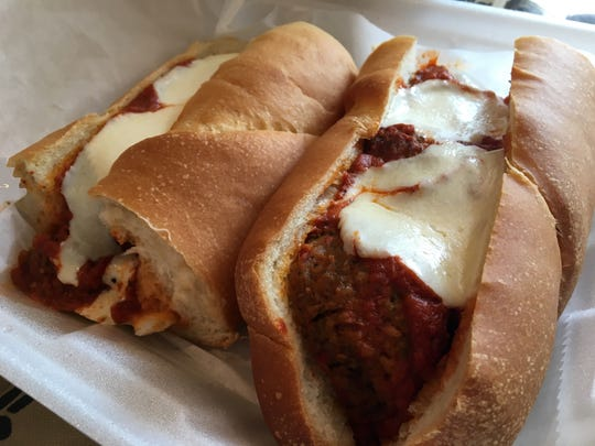Cafe Italia's meatball sub is made with homemade meatballs