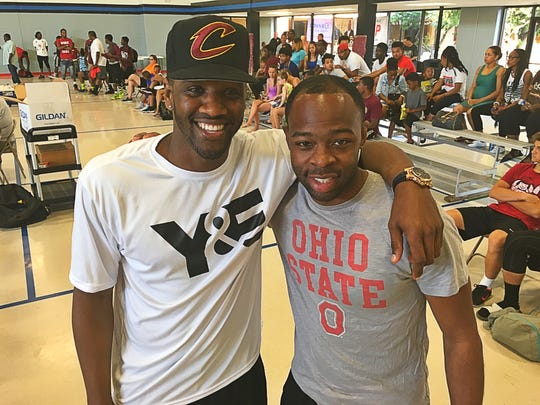 "Young and Established Courtney Johnson and Alex Burton had an exciting week producing the Dust Bowl basketball tournament. Courtney brought the annual event back three years ago as part of his non-profit Young & Established's, ""Stop The Violence"" Campaign. The six-day event was filled with basketball, food booths, entertainment, contests, prizes and family fun."