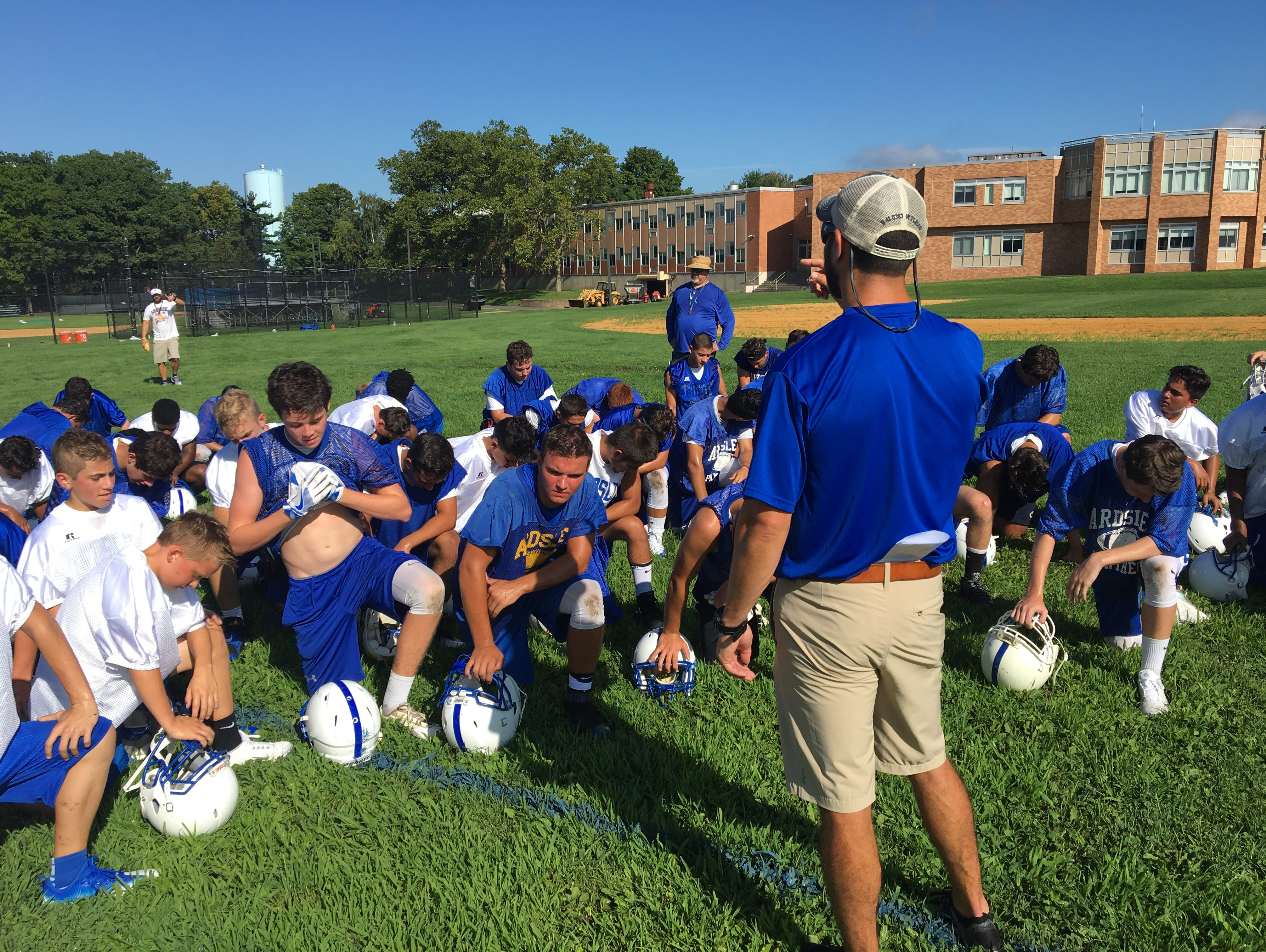 Ardsley hit the field for the first practice of the 2016 football season on Aug. 15, 2016.