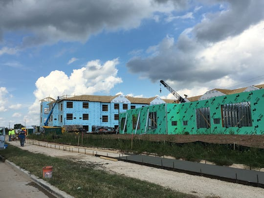 Senior housing is rising east of the County CE roundabout in Kimberly.