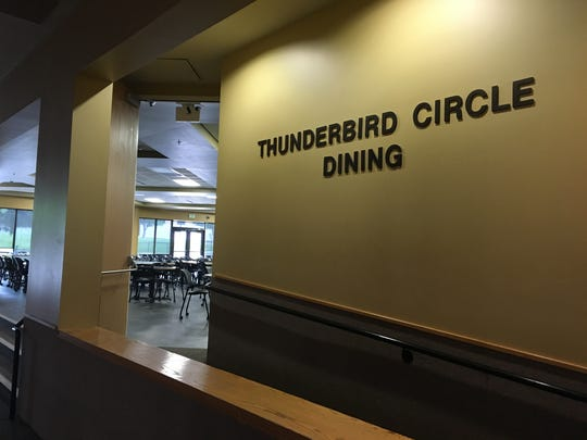 Thunderbird Circle Dining Hall offers a buffet of food