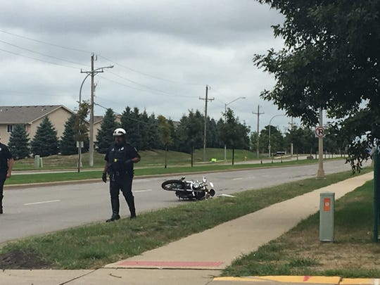 A man was struck by a motorcycle near 85th and Lousie