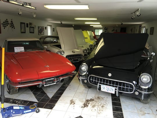 Car collector Ron MacWhorter dedicated one of his garages exclusively to his Corvettes.