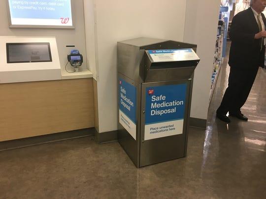 Safe medication disposal bins are available at 18 Walgreens