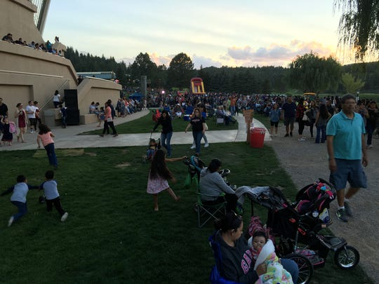 Thousands swarmed to the banks of Mescalero Lake Sunday to enjoy country music and food as they waited for the fireworks show.