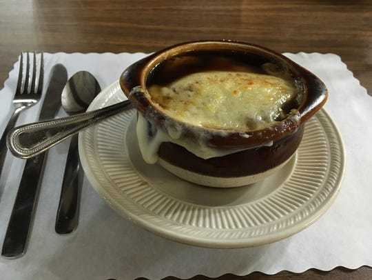 Klemme's Wagon Wheel's French onion soup.
